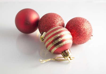 red, Christmas decoration, balls, shine, bright,celebretion,joy, happiness, white background