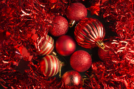 Christmas decoration in red Stock Photo