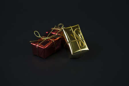 Golden and red gift