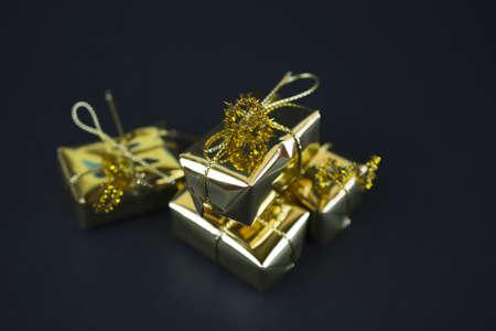 Golden giftd Stock Photo