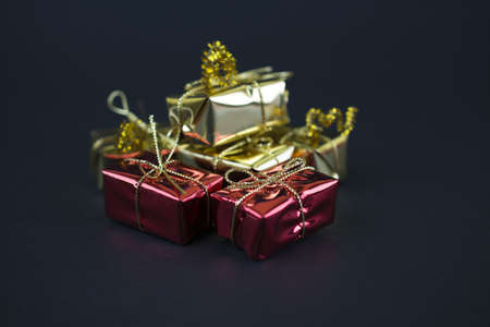 Golden and red gifts