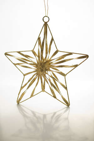 christmas decoration- golden star photo
