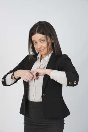 Beautiful girl with suit Stock Photo