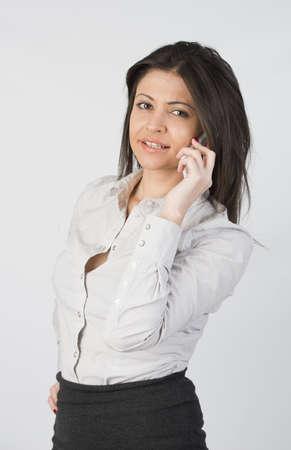 beautiful girl with telephone