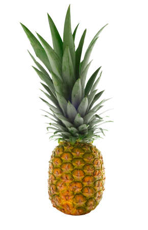 undefined: Pineapple isolated on white and clipping path included Stock Photo