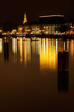 canals in Amsterdam at night (photo taken with a long exposure)