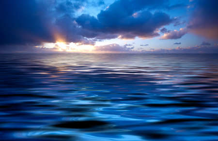 abstract ocean and sunset background Stock Photo - 611605