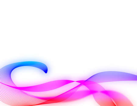 computergraphics: colorful abstract wavy design Stock Photo