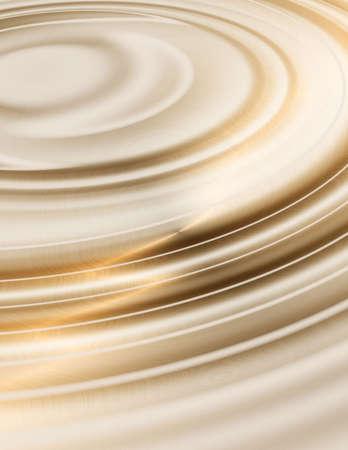 moisture: golden liquid ripples Stock Photo