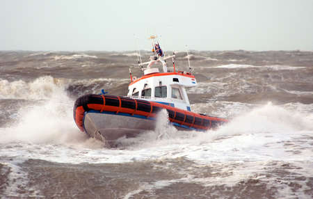 comrade: Coast Guard in storm Stock Photo