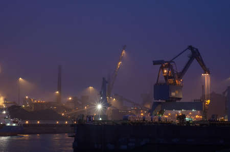 Industry at night photo