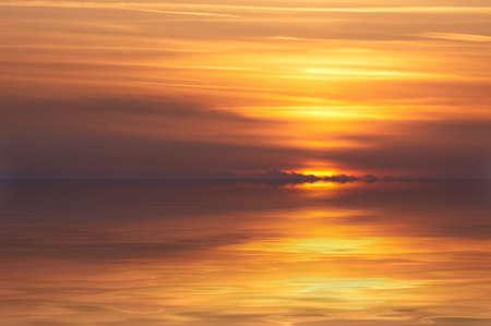 abstract ocean and sunset background photo