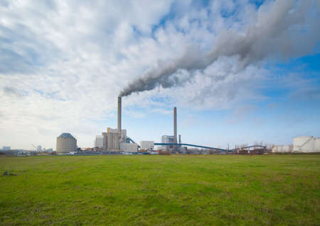 catalytic: power plant, photo taken with an ultra wide angle lens