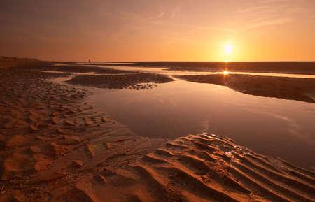 sunset evening on the beach photo
