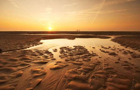 Abends Sonnenuntergang am Strand