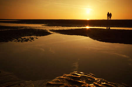 a couple at the beach on a beautiful night  Stock Photo - 811436