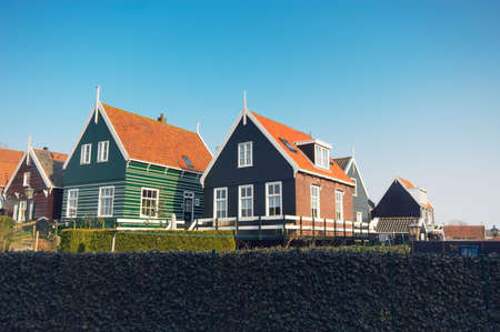old dutch houses on a day in summer photo