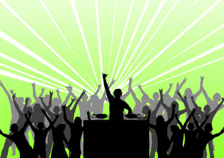 happy people dancing at a party Stock Photo - 897024
