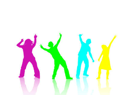 happy people dancing at a party Stock Photo - 897032