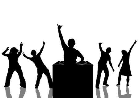 happy people dancing at a party Stock Photo - 897034