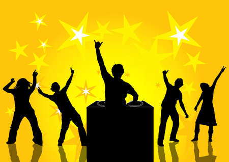 happy people dancing at a party  Stock Photo - 897035