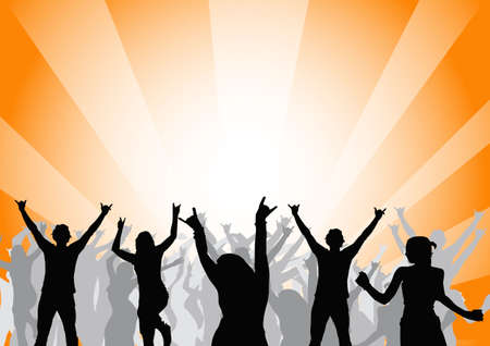 happy people dancing at a party Stock Photo - 897691