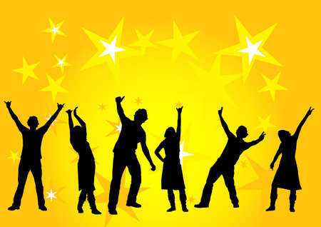 happy people dancing at a party Stock Photo - 897692