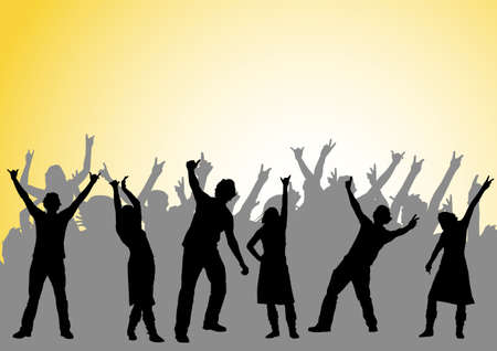 happy people dancing at a party Stock Photo - 897693