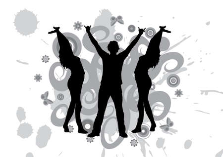 happy people dancing at a party Stock Photo - 897694
