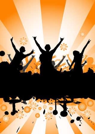 Glückliche Menschen tanzen auf einer Party