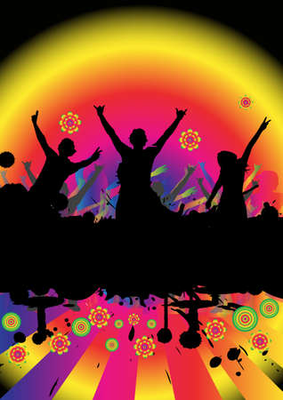 happy people dancing at a party Stock Photo - 902039