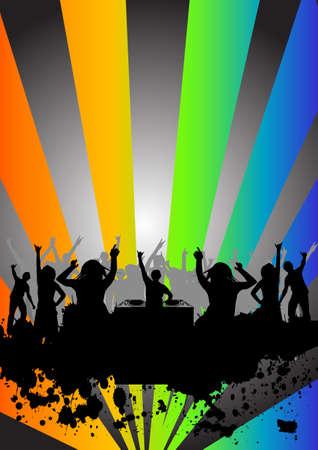 Menschen gerne tanzen auf einer Party