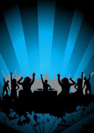 happy people dancing at a party Stock Photo - 907403