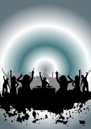 happy people dancing at a party Stock Photo - 902041