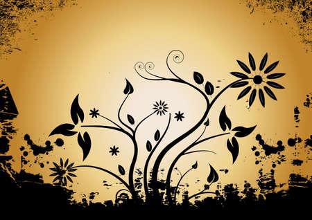 Zusammenfassung Vector grunge floralen Design