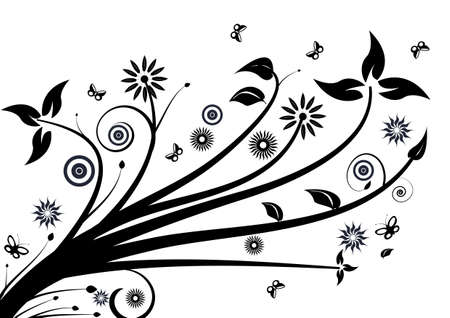 abstract vector floral design
