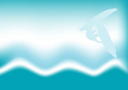 abstract vector windsurfing in the waves design  Stock Photo - 916542