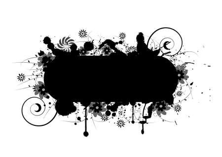 Floral grunge Design mit viel Platz für Text