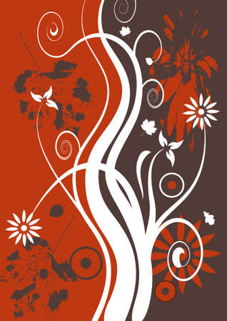 abstract vector grunge floral design Stock Photo - 950406