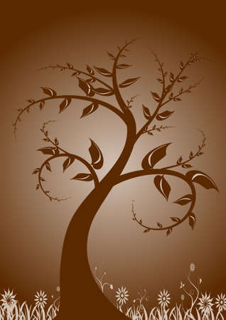 abstract vector grunge tree design Stock Photo - 950407