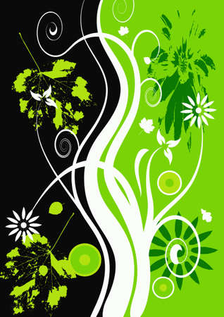 abstract vector grunge floral design Stock Photo - 958093