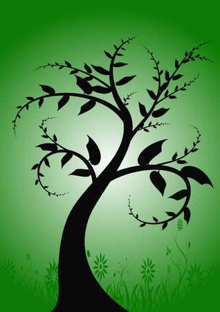abstract vector grunge tree design Stock Photo - 958094