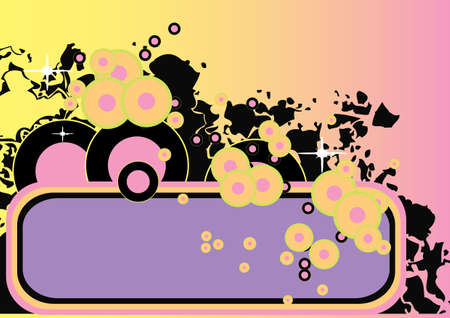 retro colored vector design with lots of copy space Stock Photo - 991855