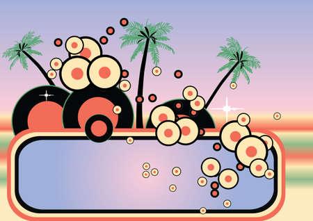 retro colored vector tropical design  Stock Photo - 991859