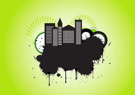 trendy vector urban grunge design photo