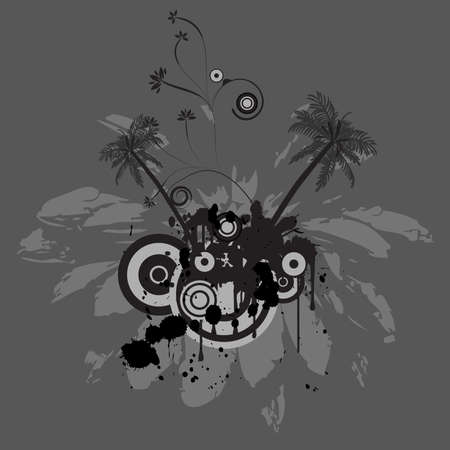 trendy grunge vector floral design  Stock Photo - 1007871