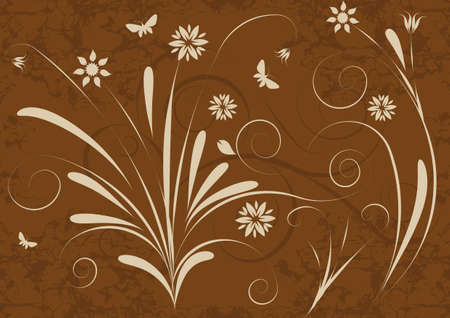 abstract vector floral design Stock Photo - 1065299