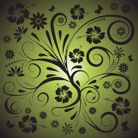 trendy abstract vector floral design Stock Photo - 1078456