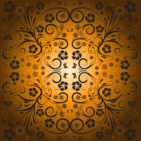trendy abstract vector floral design Stock Photo - 1078457