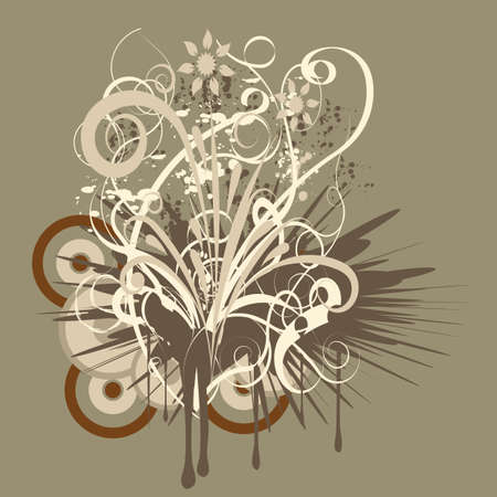 trendy abstract vector floral design Stock Photo - 1078458